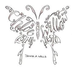 for my tattoo with all three boy's name n birthday dates good look pretty sweet
