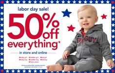 Labor Day Sale: Receive 50% Off on all orders at Carters through Coupons2redeem. No Coupon Code required during checkout.