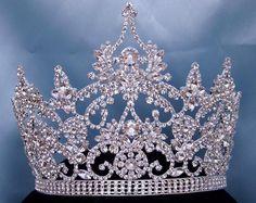 Continental Adjustable Rhinestone Crown Tiara