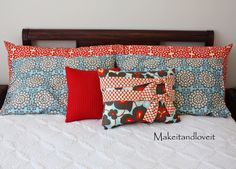 TUTORIAL:  tired of paying outrageous prices for Pillow shams... make all your own cases to match your bedroom colors.