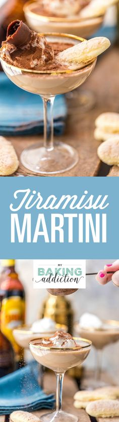 Tiramisu Martini has rich flavors like Kahlua, Rum Chata, and Godiva Liquor. It's the perfect dessert cocktail for just about any occasion!