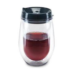 Traveler Double Walled Wine Tumbler  #glass #stemless #wine #stemeware #drinkware #whitewine #aerator #happyhour #corkscrew #nightout  https://rustybeardonline.com