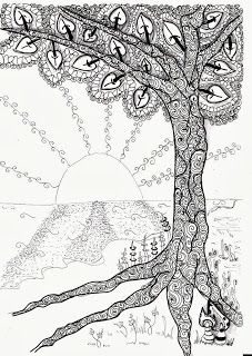 Efie goes Zentangle: art-tangle-club 98