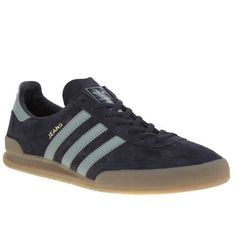 mens adidas navy & pl blue jeans trainers