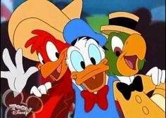 Panchito, Donald and Jose Carioca