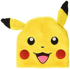 BIOWORLD Pokemon Pikachu Big Face Fleece Cap Beanie with Ears Officially  licensed by bio world. New and sealed inside retail packaging. fa57e2cf7f0