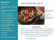 The season is changing and the weather is getting cooler. Warm yourself up with this cholesterol-free vegetable soup from the National Heart, Lung, and Blood Institute (NHLBI). Coconut Oil Cholesterol, Foods To Reduce Cholesterol, What Causes High Cholesterol, Cholesterol Symptoms, Healthy Cholesterol Levels, Cholesterol Diet, Healthy Eating Recipes, Nutrition, Fiber