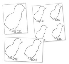 Use this Easter chick template printable for your Easter crafts and decorations. In the Easter chick template printable you'll get four PDF pages: A page with one huge Easter Royal Icing Templates, Easter Templates, Royal Icing Transfers, Shape Templates, Templates Printable Free, Macaron Template, Craft Night, Easter Crafts, Deko