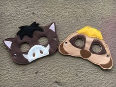 Lion Guard Pumbaa/Timon inspired mask by RayasBowtique on Etsy