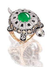 JADEITE AND DIAMOND 'TORTOISE' RING, BY ALESSIO BOSCHI