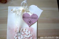 schiller's platzli: Tüte mit Herz Stampin' Up!, stempeln, Verpackung, Herz, rosa, Blüten, Big Shot, stanzen, board, Stanz- und Falzbrett für Geschenktüten, Kirschblüte, VAnille Pur, Diamantengeißen, Blüten der Liebe, Auf den ersten Blick, Kirschblüte, Taupe, Herzblatt, Blühendes Herz, Spitze, Hochzeit, Taufe, Geschenkverpackung, Geschenk, gift, present, Gastgeschenk