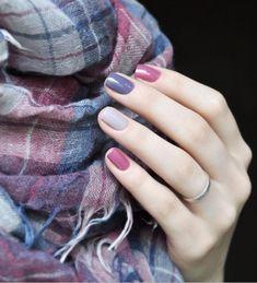 Trendy Nail Art, Stylish Nails, Gray Nails, Matte Nails, Purple Nails, Pink Nail, Purple Makeup, Spring Nail Colors, Spring Nails