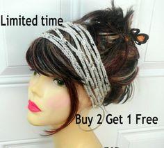 Crochet Headband Boho Headband Hippie Headband  Hair Accessories Headband Crochet Headbands for Women by DivaTrendz on Etsy https://www.etsy.com/listing/121950279/crochet-headband-boho-headband-hippie