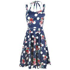"Abito ""Dotty Floral Swing Dress"" del brand #H&RLondon."