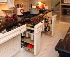 muebles de cocina con cajones ordenacion