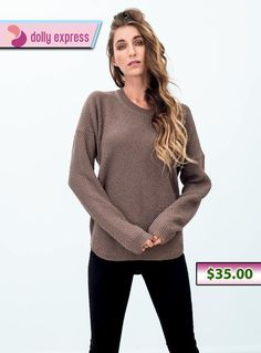 Seamlessly crafted long-sleeve knit sweater comfortable and flattering to wear. Get best Carey Jumper online in Australia at dollyexpress.com