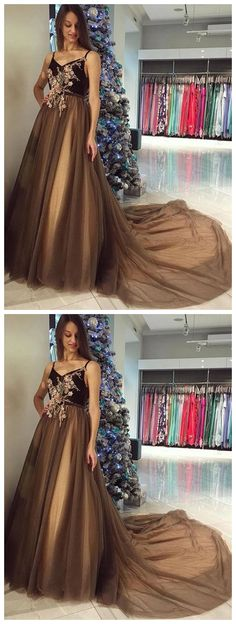 Black v neck lace tulle long prom dress, formal dress CR 12170 Classy Prom Dresses, Formal Evening Dresses, Homecoming Dresses, Sexy Dresses, Dress Formal, Fashion Dresses, Party Dresses, Chiffon Skirt, Dress Collection