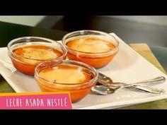 Recetas Nestlé: Leche Asada Nestlé - YouTube Creme Brulee, Flan, Carne, Pudding, Make It Yourself, Desserts, Cold Desserts, Sweet And Saltines, Sweet Recipes