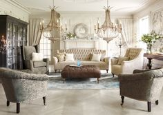 Arhaus Furniture At First Sight My Soul Sighed And Asked For Sanctuary In This Room Love The Chandeliers Color Palate