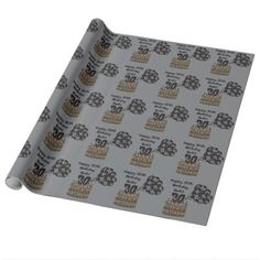 30 and Over The Hill Party Theme Wrapping Paper