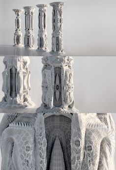 Michael Hansmeyer is an architect and programmer who explores the use of algorithms and computation to generate architectural form. These columns carved out by algorithms are breathtaking!