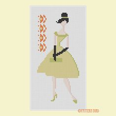 Vintage Woman II. Instant Download PDF Cross Stitch par PatternBird, $4.00