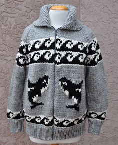 Orca Cowichan Style sweater