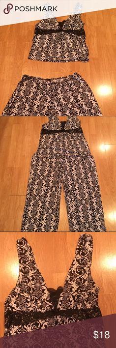 Summer pajama set Large Super soft and comfy pajama set! Like new and perfect condition. Linea Donatella Intimates & Sleepwear Pajamas