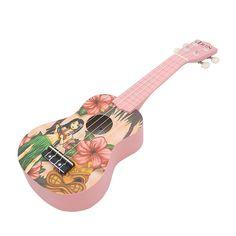 Beatie Ukuleles Infantil,21 Pulgadas Ukulele Instrumento, Ukelele Hawaiano para Niño Adulto,Niña de Dibujos Animados pequeña Guitarra: Amazon.es: Hogar