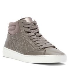 Michael Michael Kors Women's Paige Quilted High Top Fashion Sneakers' In Steel Grey Oxford Shoes Outfit, Women Oxford Shoes, Michael Kors Sneakers, Clearance Shoes, Golf Shoes, High Top Sneakers, Shoes Sneakers, Leather Fashion, Sneakers Fashion