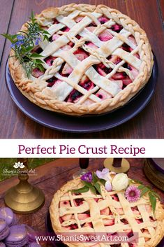 Perfect Pie crust recipe- is a balance between the richness of a butter crust and the flakiness of a shortening crust. Ideal for intricate decorative pies Pie Crust Recipes, Pastry Recipes, Dessert Sauces, Dessert Recipes, Brownie Recipes, Cookie Recipes, Perfect Pie Crust, Dessert For Two, Best Pie