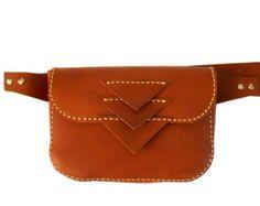 ON SALE LEATHER Hip Bag / Cowhide Handmade hip bag by Lanhe
