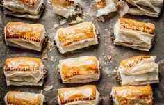 Turkey and stuffing sausage rolls - Alyn Williams