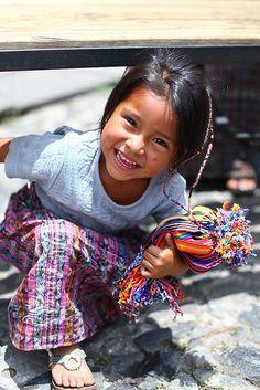 Girl Selling Bracelets in Antigua, Guatemala