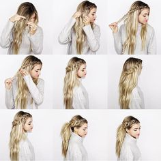 Image about hair in Haare by ivesammer on We Heart It Pretty Braided Hairstyles, Work Hairstyles, Unique Hairstyles, Hair Color 2018, Latest Hair Color, Hair 2018, Corte Y Color, Pinterest Hair, Look Chic
