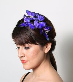 Pretty Purple Butterfly Headband  woodland fairy par neesiedesigns