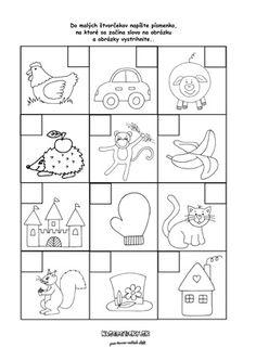 Písmenká - prváci - pracovný list pre prvákov Preschool Writing, Kindergarten, Playing Cards, Education, Kindergartens, Preschool, Teaching, Onderwijs, Pre K