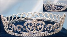 "Princess Diana's Spencer Bridal Crown $80.00 from crowndesigners.com  Base 7"" wide, Height 2"""
