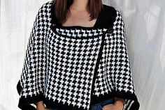 The Houndstooth Shawl -free crochet pattern-