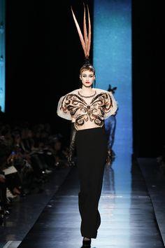 Jean Paul Gaultier Parigi - Haute Couture Spring Summer 2014 - Shows - Vogue. Jean Paul Gaultier, Paul Gaultier Spring, Haute Couture Looks, Haute Couture Fashion, Butterfly Fashion, Spring Summer, Spring 2014, Summer 2014, Spring Couture