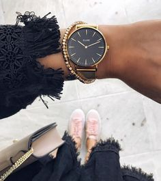 Loving my @clusewatches watch keeping me on time in the mornings! #Cluse #CluseWatches - big face watches womens, watches online for womens, womens big face gold watches