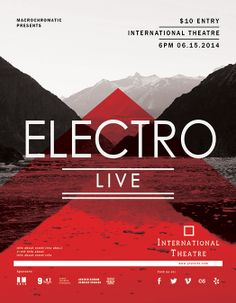 Electro Music - Flyer Template  #graphicdesign #printdesign #flyer