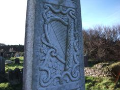 Another pinner said: This is an Irish Harp engraving on a tombstone at the Bonamargy Friary in Northern Ireland.  The shear beauty of the detail in this carving is stunning.  I admire the amount of work that went into that.