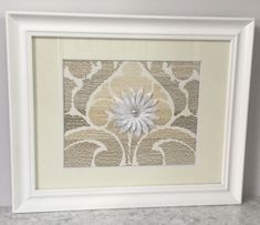 Taupe, tan, and cream framed fabric and flower, modern wall decor, framed fabric flower, unique wall decor, picture, frame, wall hanging by WowYourWalls on Etsy #ModernWallDecorHome Frame Wall Decor, Unique Wall Decor, Tan Walls, Big Living Rooms, Framed Fabric, Fabric Flowers, Picture Frame, Taupe, Tapestry