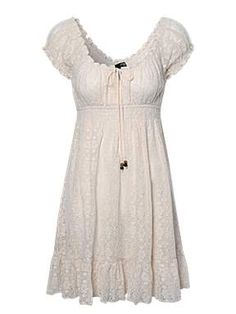 Beige Lace Country Dress, this would be cute with some boots!