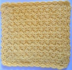 Sedge Stitch Dishcloth Crochet Pattern