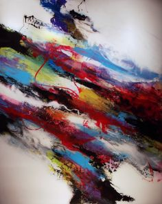 """Abstract Painting """"Vertex"""" by Jeffrey Bisaillon"""