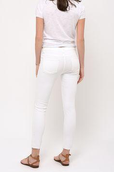 Skinny 7/8 ème blanc Cimarron