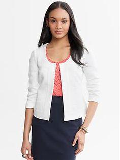 I really like this but would be petrified about wearing it because I'm a bit of a slob :-P. Mad Men® Collection White Blazer | Banana Republic