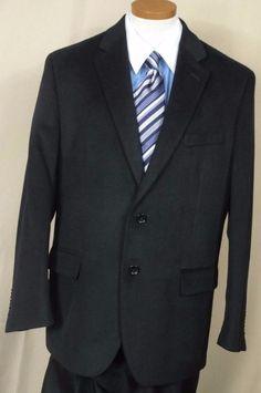 Nautica Men,s Black, Polyester blend, Two button, Sport coat  size 40S #Nautica #TwoButton
